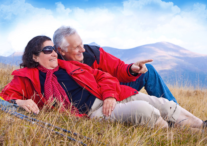Photo: hiking seniors 23,  © Patrizia Tilly - Fotolia.com