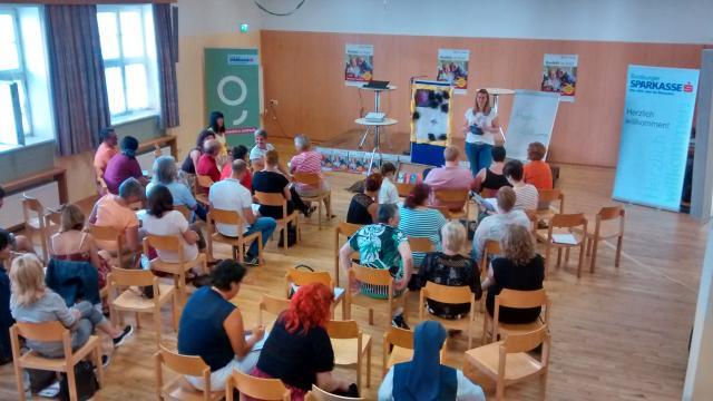 Gefragte Session von Sabine Wolfmayr zum Thema herausforderndes Verhalten bei Menschen mit Demenz.